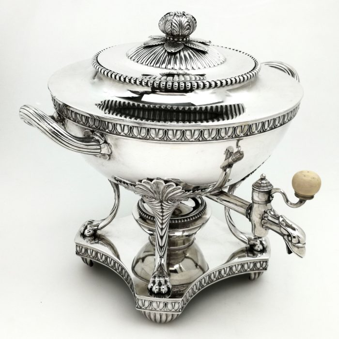ANTIQUE GEORGE III GEORGIAN STERLING SILVER TEA URN / SAMOVAR 1808