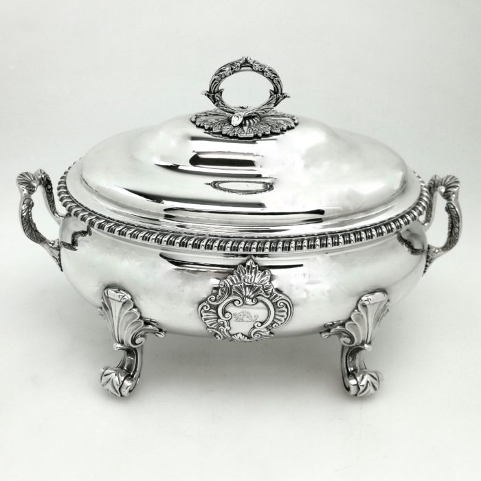 ANTIQUE GEORGE III STERLING SILVER SOUP TUREEN 1816 GEORGIAN